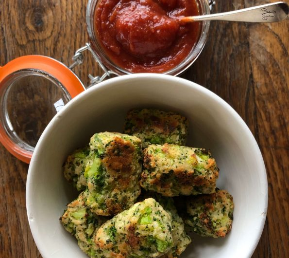 Broccoli Bites with homemade tomato ketchup