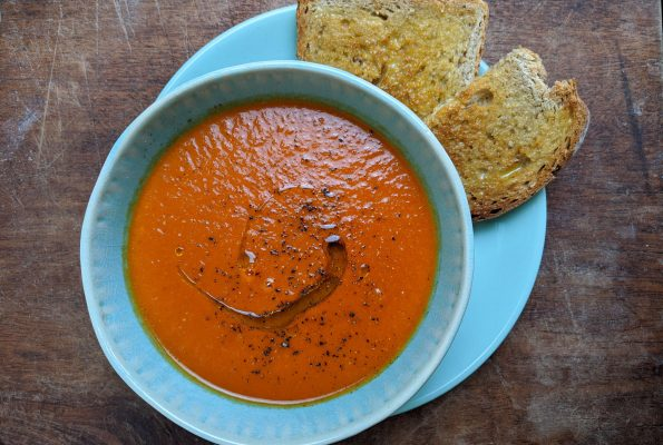 Roasted Tomato Soup – store cupboard version