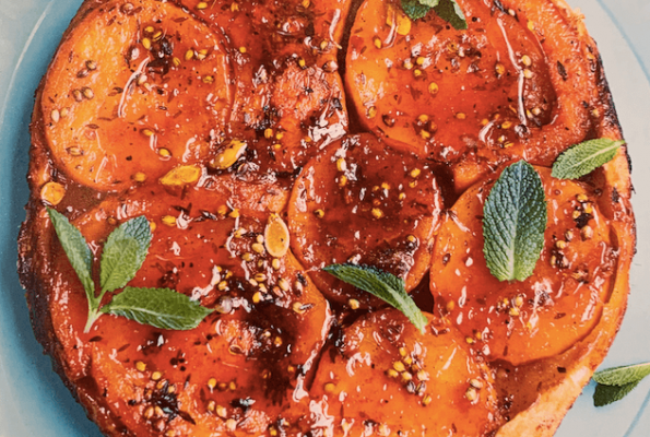 Butternut squash tatin with harissa butter
