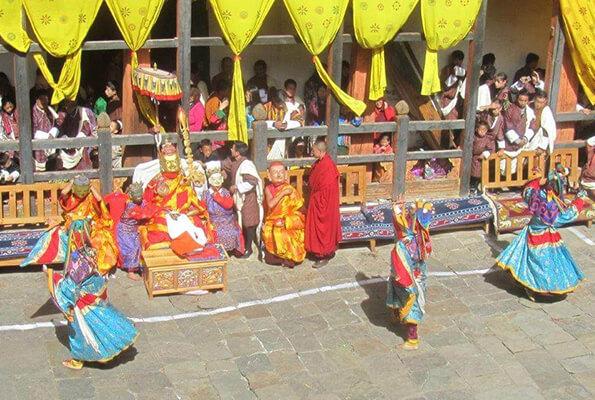 Jakkar Dzong festival dancers