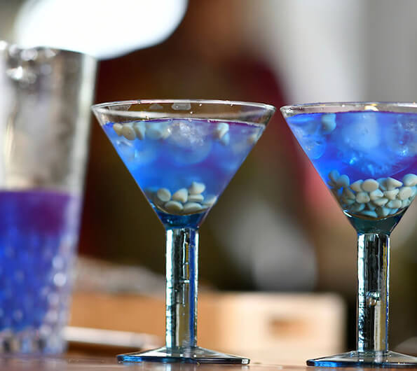 Blue dreamer cocktail