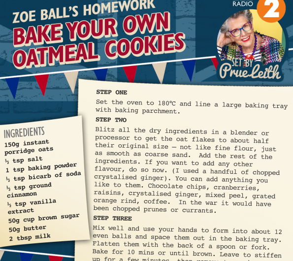 VE Day Oatmeal Cookies